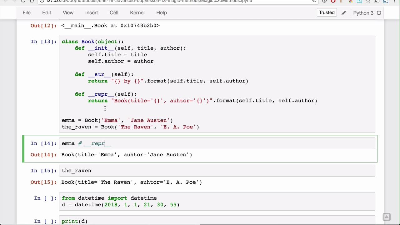 Magic Methods Lesson - Base Python Track