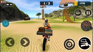 Motocross Beach Jumping Games Beach Bike / Motor Stunt Games / Android Gameplay FHD #3