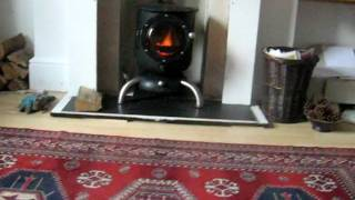 Home Made Gas Bottle Wood Burning Stove Test 2