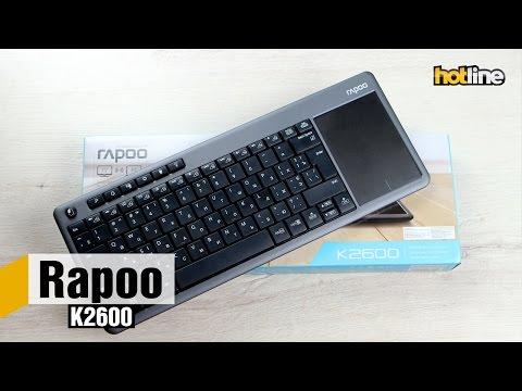 Rapoo K2600 — обзор беспроводной клавиатуры с тачпадом