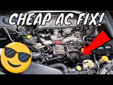 How To FIX Your Subaru AC For CHEAP! 3$ O-Ring FIX! Quick and Easy Tutorial!