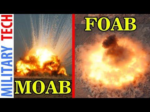 WORLDS LARGEST Non Nuclear Bomb GBU 43 B MOAB vs FOAB
