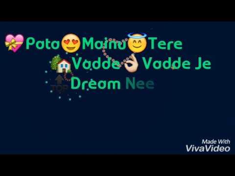 Big Dream Lyrics Video ! Latest Punjabi song  ! Happy Raikoti..