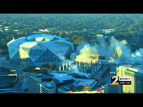 RAW VIDEO:  Georgia Dome Demolition From Different Angles