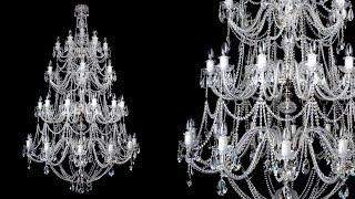 видео Люстры для больших залов в Москве недорого. Подвесные потолочные люстры в зал