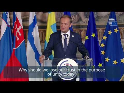 Donald Tusk at the 60th anniversary of the Rome Treaties