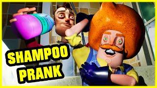 FUNNY PRANK IN THE NEIGHBOR'S BATH!! - Hello Neighbor Mod