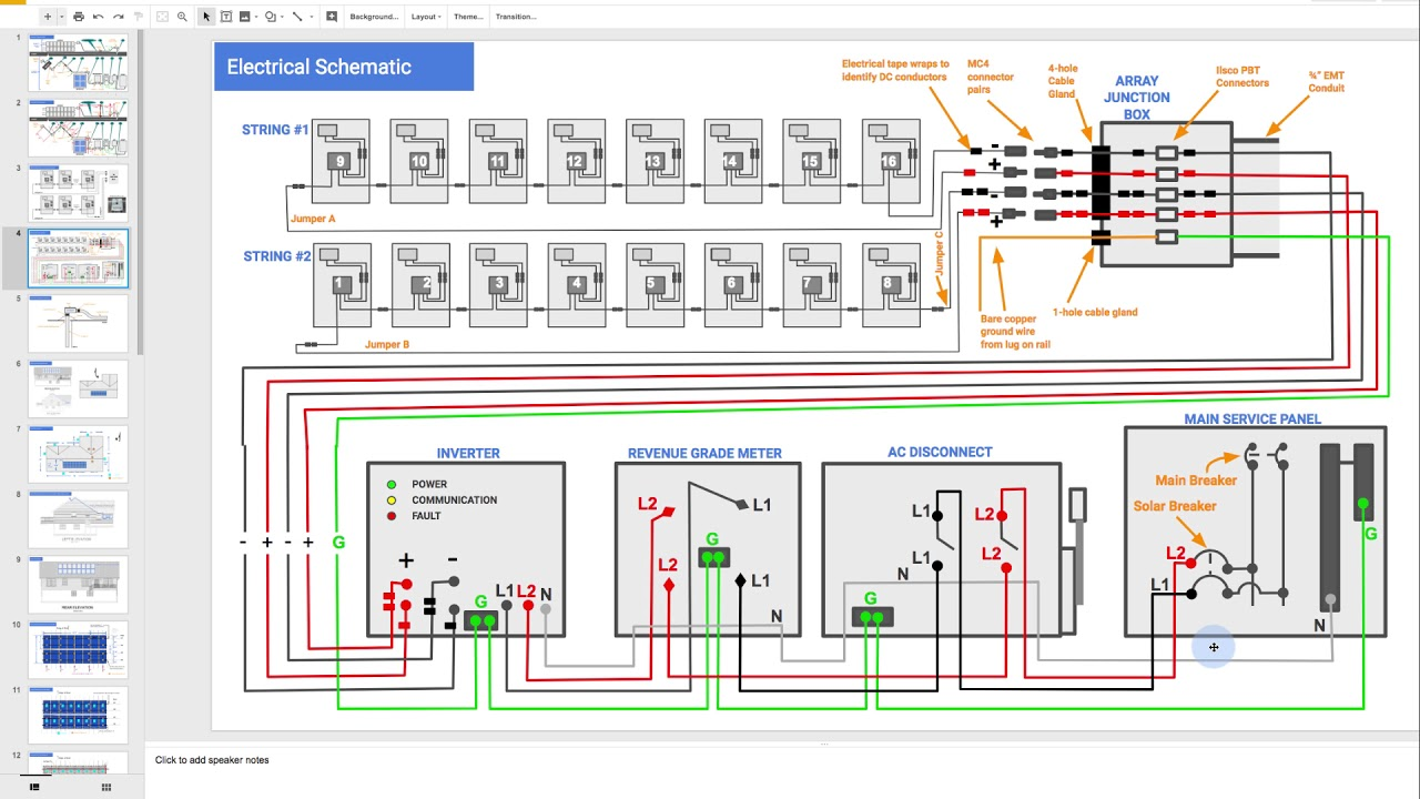 Solar Wiring Schematic Detailed Schematics Diagram Array Reading A Electrical Youtube Kwh 50