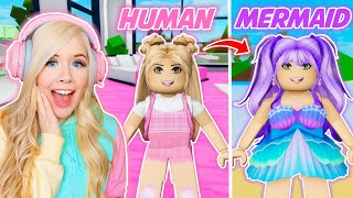 HUMAN TO MERMAID IN BROOKHAVEN! (ROBLOX BROOKHAVEN RP)