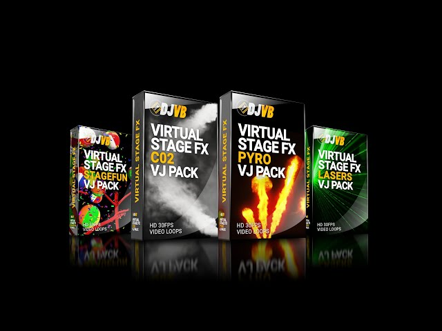 Virtual Stage FX VJ Loops Bundle by DJVisualsbuilder.com