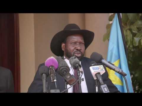 President Uhuru Kenyatta; met with President Salva Kiir in Juba to offer Support to Peace Process