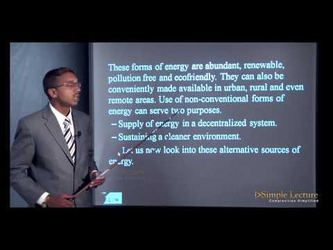 Science Class 10th- Chapter 1 - Alternate Source Of Energy