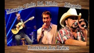 Marcelo Viola e Ricardo com Padre Fabio de Melo - Protetora dos Peões