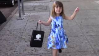Holly Madison walks with her daughter Rainbow 3 weeks after giving birth the baby Forest Leonardo