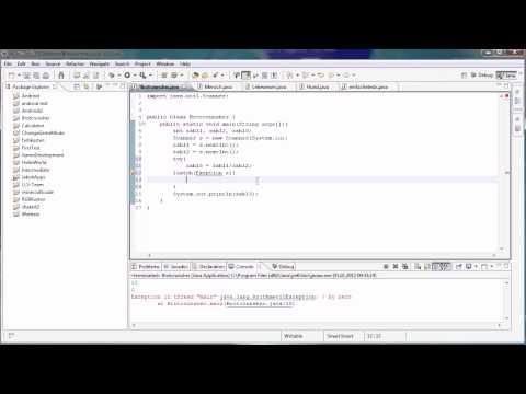Java Tutorial 43 - Ausnahmebehandlung Mit Try Und Catch