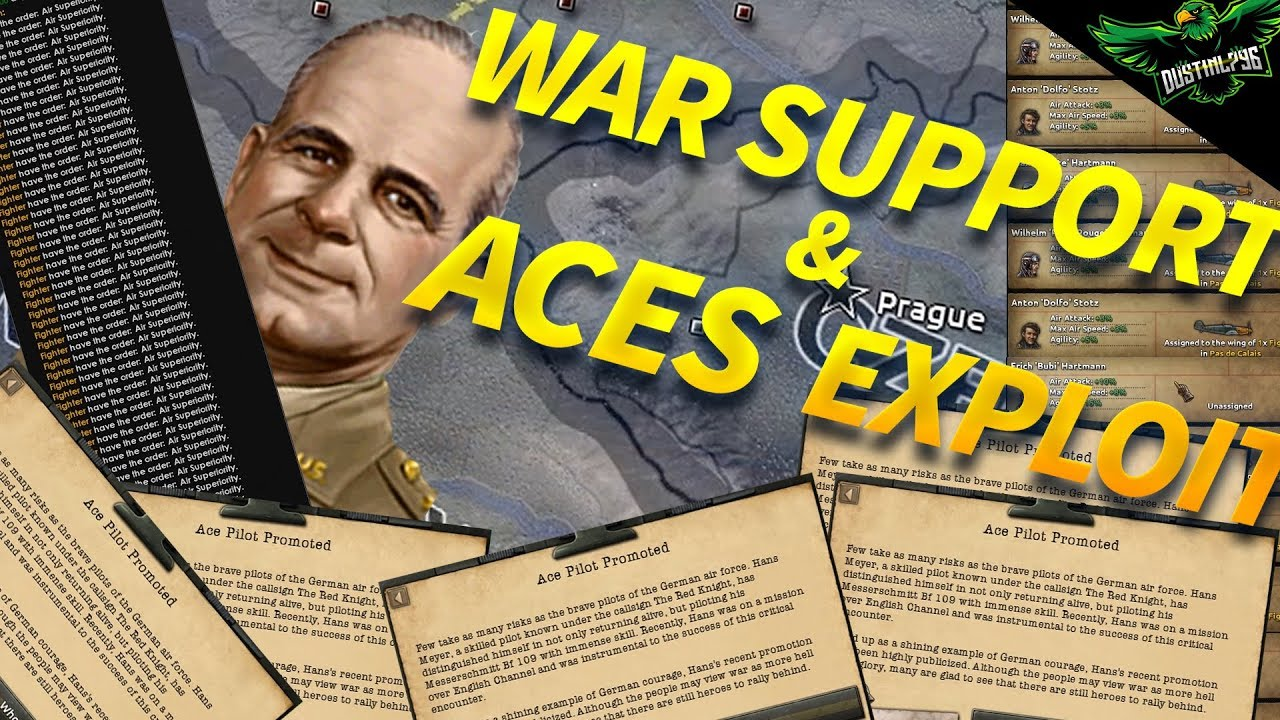 HOI4 Exploit: Unlimited War Support and Aces Exploit ( hoi4 2018 working  exploits)