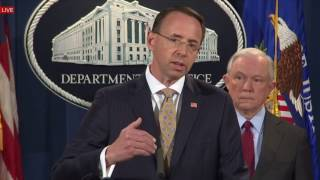 FULL: AG Jeff Sessions on DARK WEB with Attorney Rod Rosenstein Cybercrime News Conference DARK NET