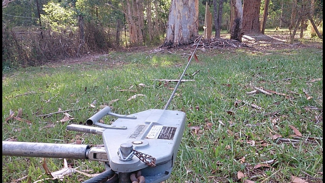 Pull A Fence Tight With A Hand Winch Youtube