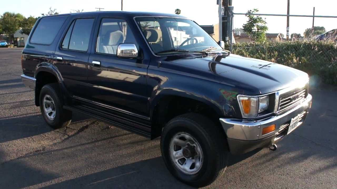 1991 toyota 4 runner 4x4 sr5 2 owner for sale 2999 youtube. Black Bedroom Furniture Sets. Home Design Ideas