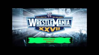 Wrestlemania 27 theme song