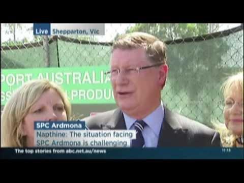 Premier In Shepparton On SPC Ardmona ABC News 24