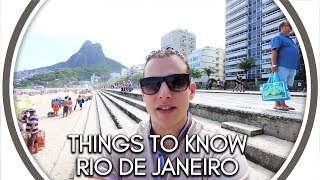 Обложка Things To Know Before Visiting Rio De Janeiro