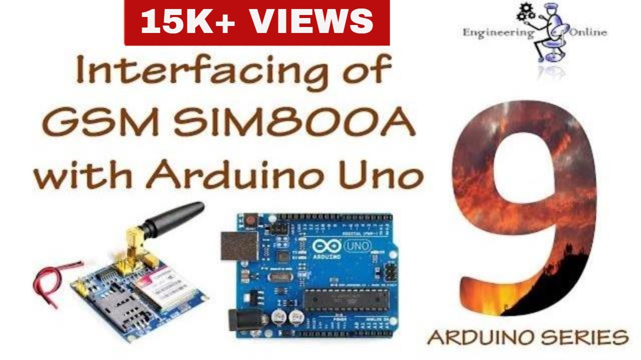 Interfacing of GSM SIM800A with Arduino Uno