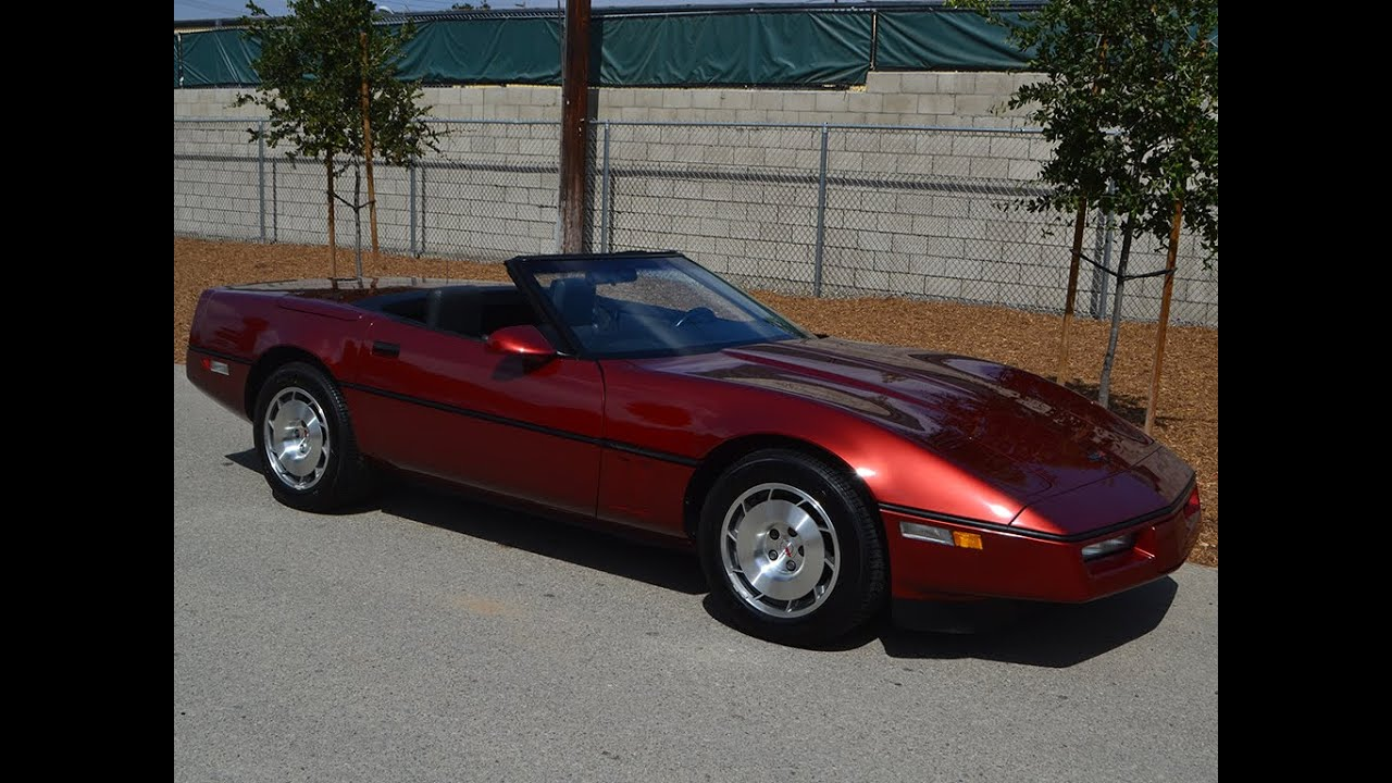 Car Sale Contract >> SOLD 1986 Chevrolet Corvette Convertible with only 162 miles for sale by Corvette Mike - YouTube