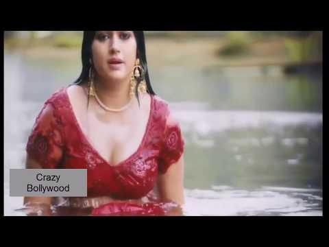 Poonam Bajwa hot navel show in wet red saree thumbnail