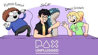 Animating D&D on Youtube - Puffin Forest, JoCat, Dingo Doodles - Pax Unplugged 2019