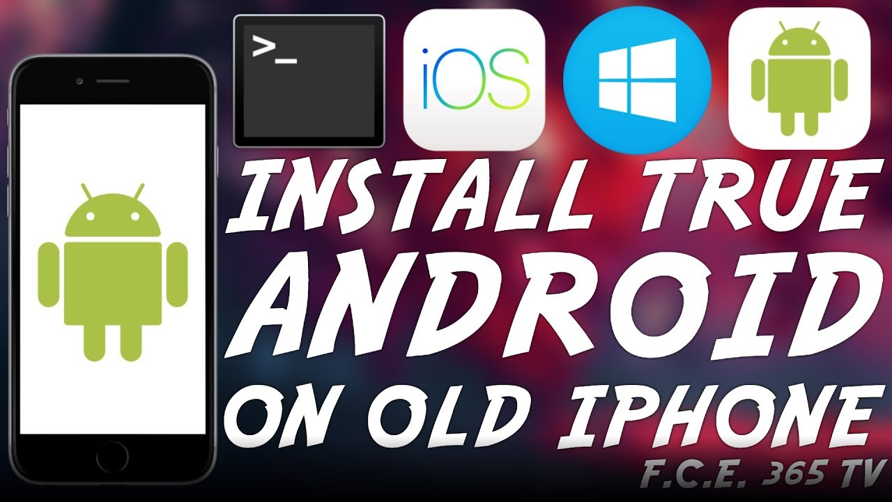 How to Install Legit ANDROID (Dualboot) on Older iPhone / iPod Touch  (Windows Tutorial)