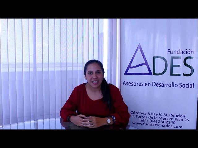Directora Ejecutiva ADES: Msc. Estefanía Luzuriaga Uribe