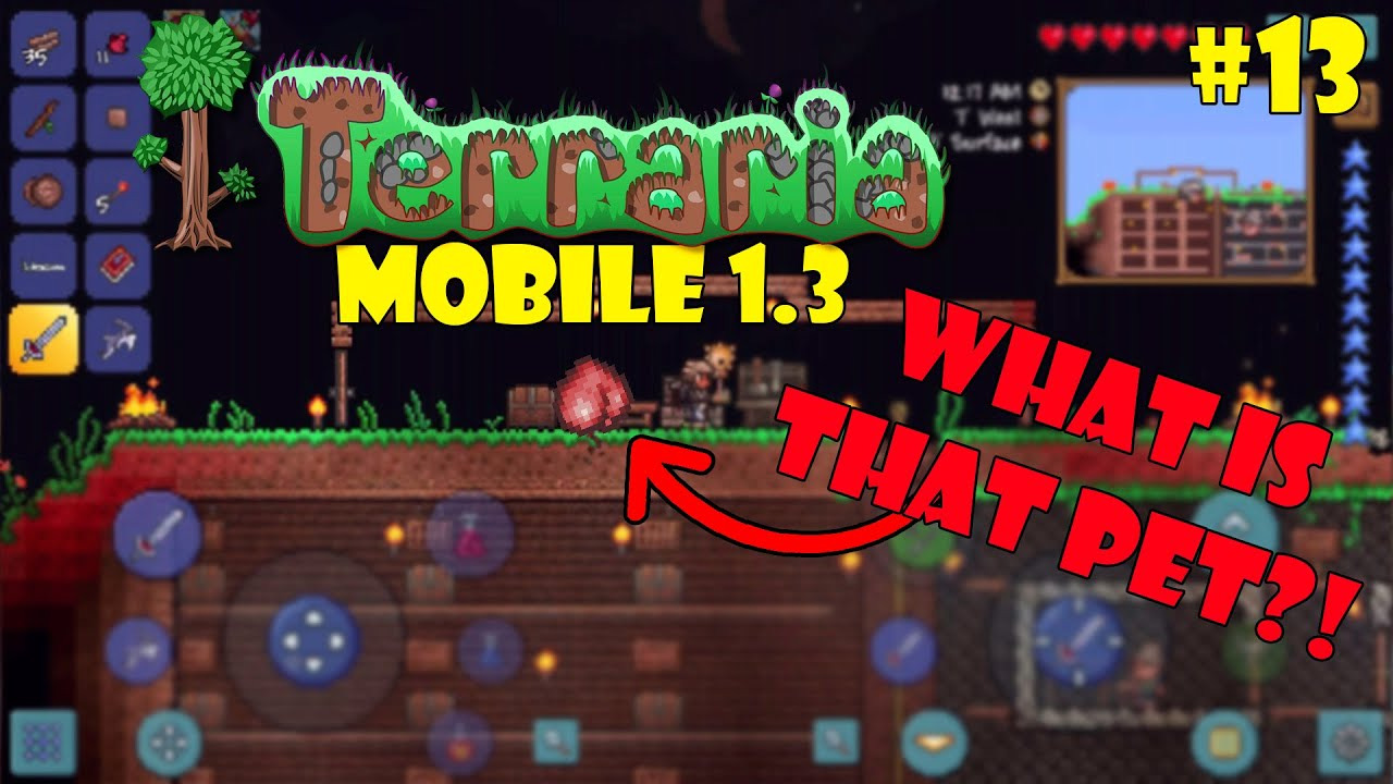 Let's Play Terraria (1 3) Mobile- THE METEOR MAGE! Episode 13
