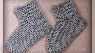 домашние детские носочки крючком