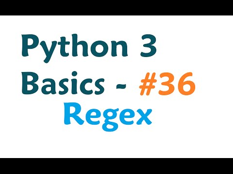Python 3 Programming Tutorial - Regular Expressions / Regex with re