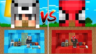 DEADPİES GİZLİ EV VS FERİTED GİZLİ EV! 😱 - Minecraft
