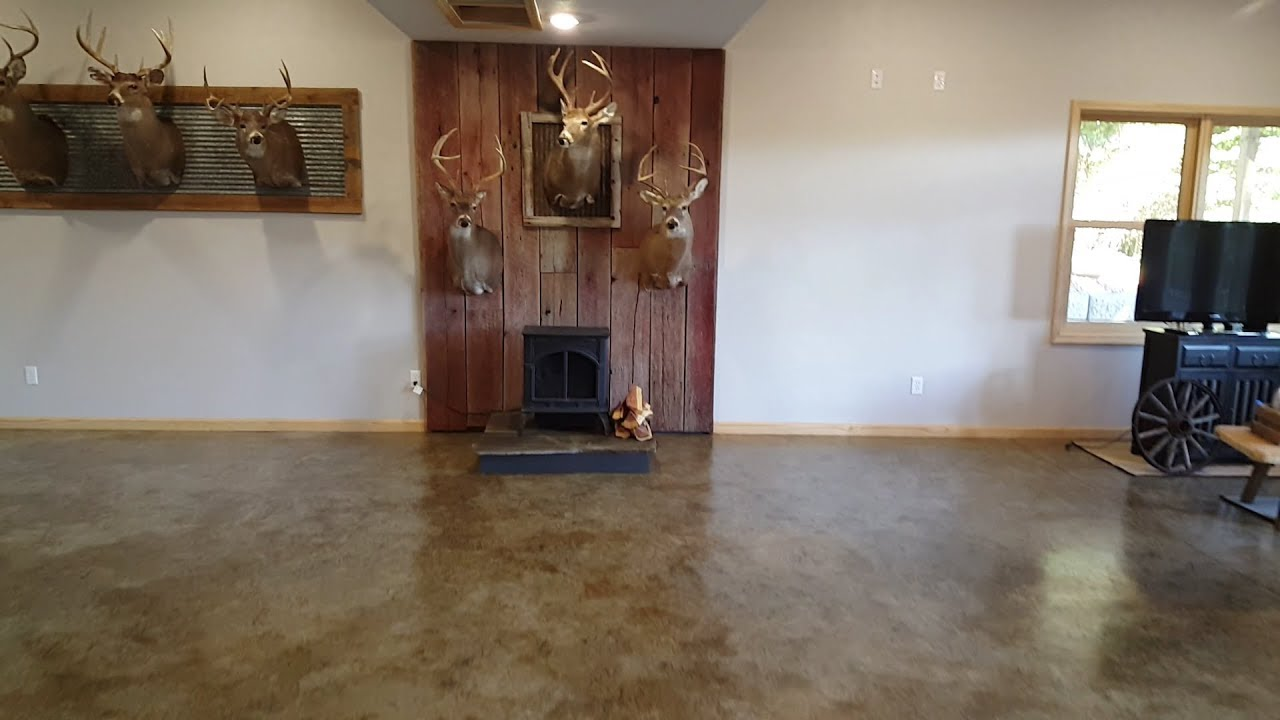 Stained Concrete Basement Floor