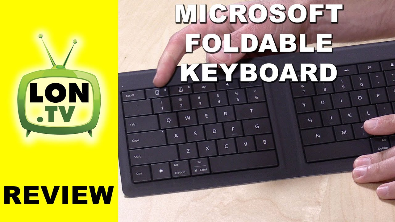 Microsoft Universal Foldable Keyboard Review - Bluetooth keyboard for  phones, tablets, and computers