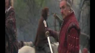 Highlander Juan Sánchez Villalobos Ramírez introduce his sword