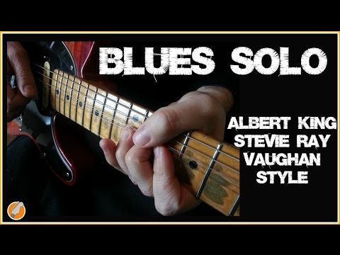 Blues Guitar  Lesson - Stevie Ray Vaughan Albert King Style Solo