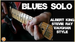 Blues Guitar  Solo - Stevie Ray Vaughan Albert King Style