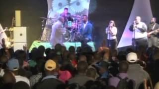 Worship Addicts leader Takesure Zamar with Africa Gospel music icon Solly Mahlangu