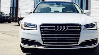 2016 audi a8 l full review start up exhaust short drive