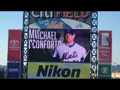 Michael Conforto Walk Up Songs and Jumbotron Animations 2018
