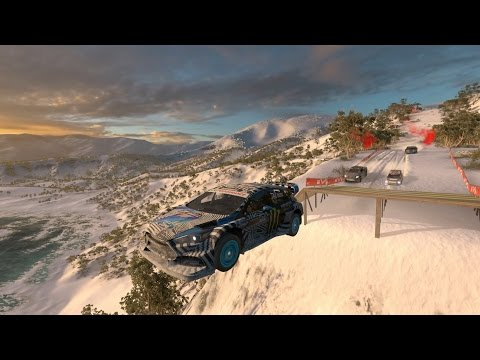 Forza Horizon 3 | Travel To Blizzard Mountain - Gameplay w/ Intro, Cutscene, Snow Race, & More