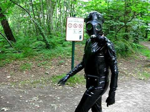 Gas mask man with 4 hot ebony nurses 7