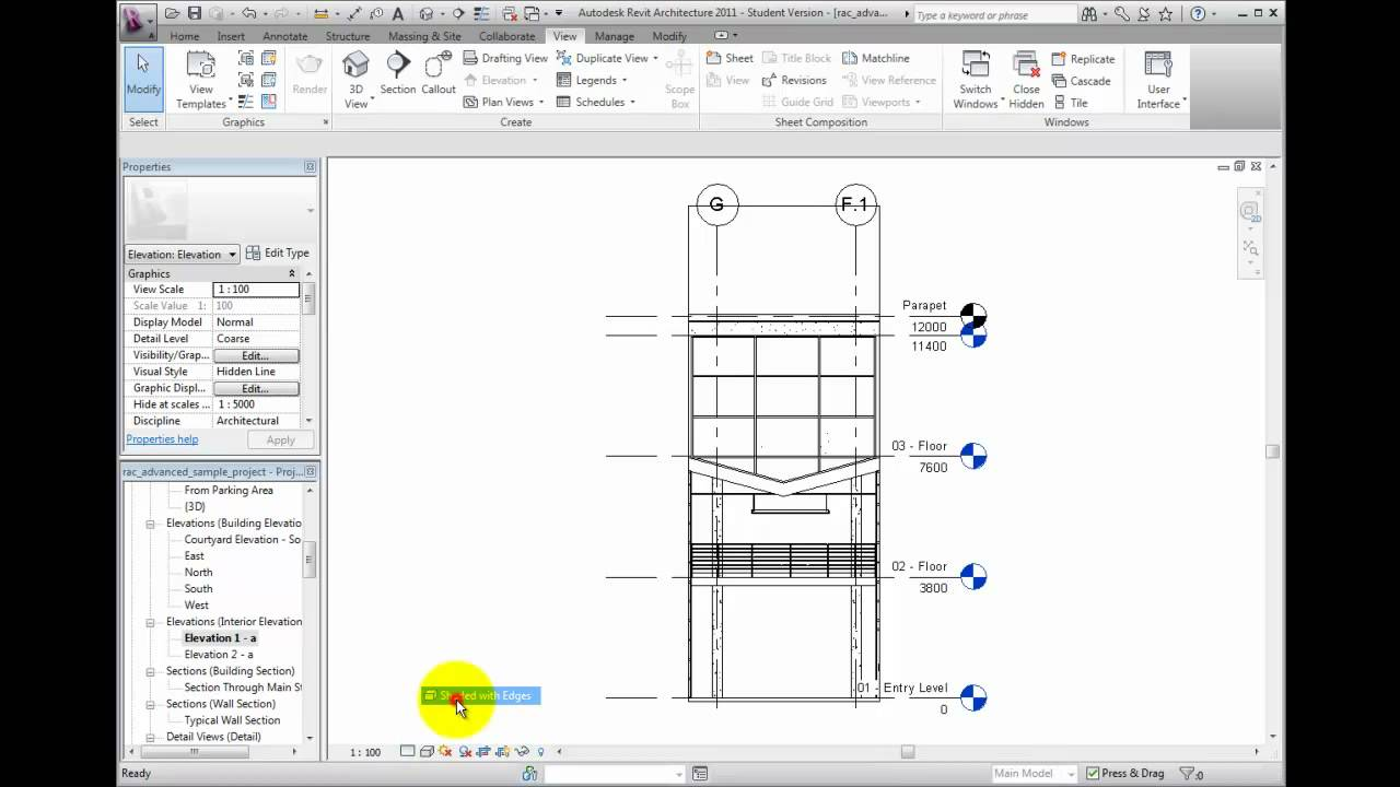 Create Elevation Plan In Revit : Revit architecture tutorial creating interior