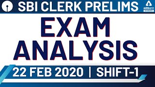 🔴 SBI Clerk 2020 Pre (22 Feb, Shift-1) | SBI Clerk Exam Analysis & Expected Cut Off 2020