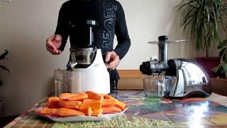 Hurom HU-500 (HE) vs Sana EUJ-707+давим сок из яблок и морковки