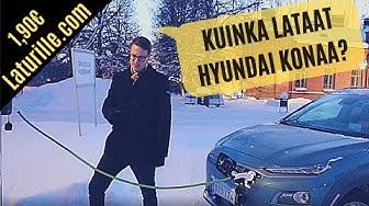 Miten ladataan Hyundai Kona sähköautoa?